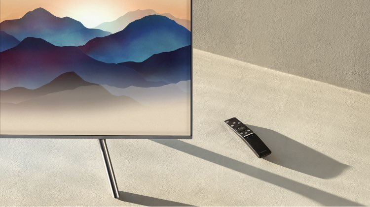 Samsung QLED TV Close up picture