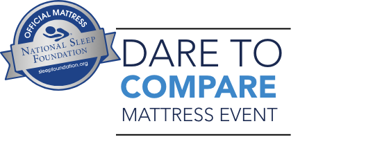 Dare to compare Mattress Event text