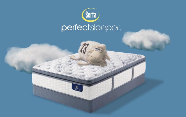 Serta Perfect Sleeper mattress with happy couple sleeping image